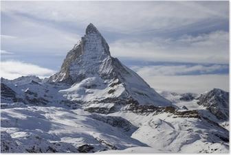 Poster Vista panoramica con il Cervino