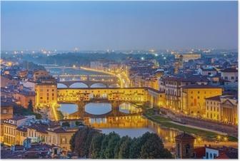 Poster Vista sul fiume Arno a Firenze