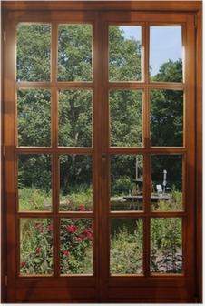 Poster finestra con vista pixers viviamo per il - La finestra sul giardino ...