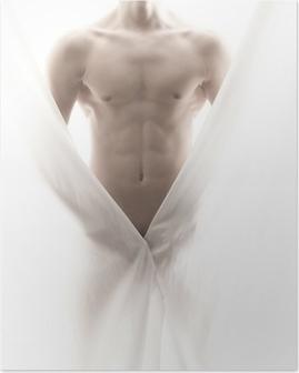 Poster Vor einem teilweise nackten männlichen Körper
