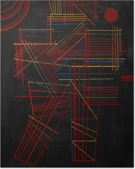 Poster Wassily Kandinsky - Bunte Stäbchen - Reproduktion