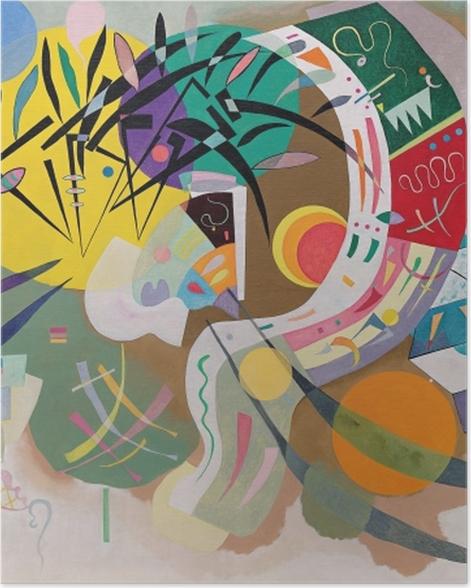 Poster Wassily Kandinsky - Dominante Kurve - Reproduktion