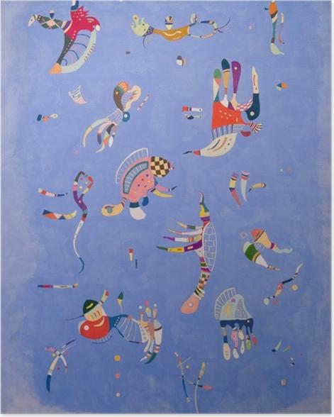 Poster Wassily Kandinsky - Himmelblau - Reproduktion