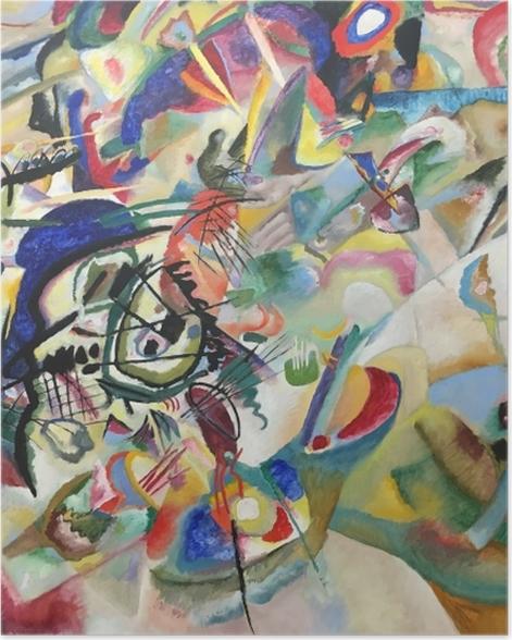 Poster Wassily Kandinsky - Komposition VII - Reproduktion