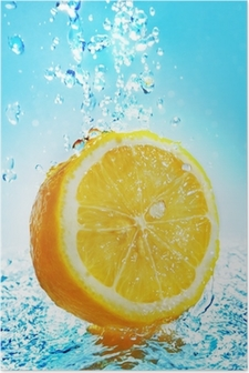 Poster Water splash sul limone