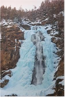 Poster Waterfall Stuibenfall at Umhausen - Tirol Austria