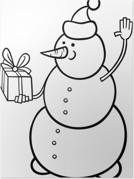 Poster Weihnachten Schneemann Malvorlagen • Pixers® - Wir leben, um ...