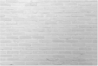 Poster Weiß Grunge Mauer Textur Hintergrund