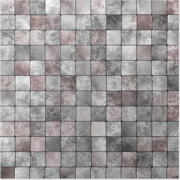 Poster Weiße Und Graue Fliesen Bilden Klaren Hintergrund Und Textur - Weisse backstein fliesen