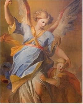 Poster Wien - Schmerz der Schutzengel in der barocken Jesuitenkirche