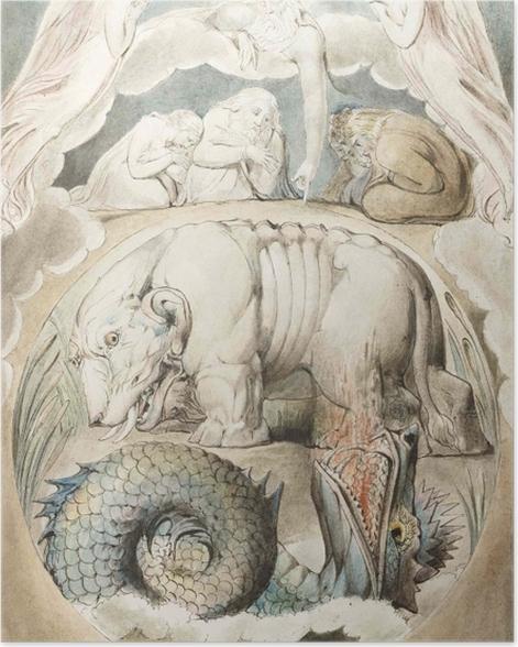 Poster William Blake - Behemoth und Leviathan - Reproduktion