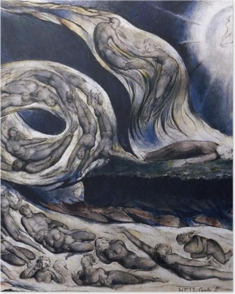 Poster William Blake - Der Wirbelwind der Liebenden - Reproduktion