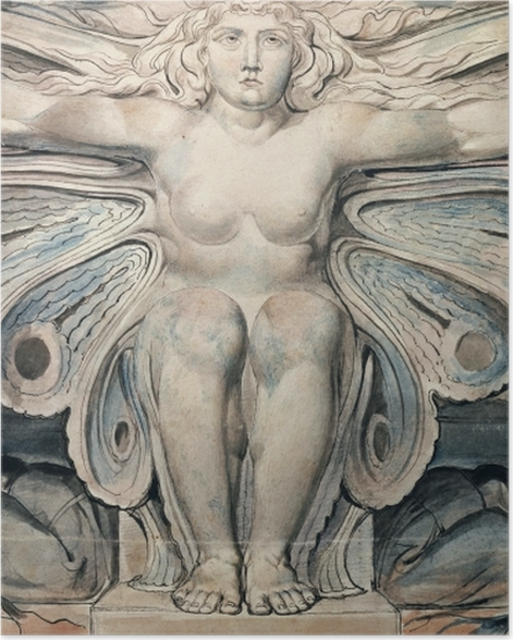 Poster William Blake - Personifikation des Grabes - Reproduktion