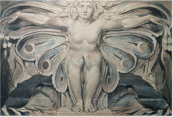 Poster William Blake - The Grave Personified - Riproduzioni