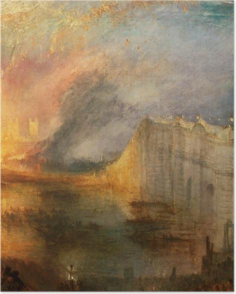 Poster William Turner - Der Brand des Ober- und Unterhauses - Reproduktion