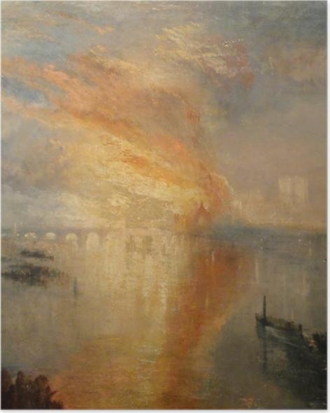 Poster William Turner - Der Brand des Parlamentsgebäudes in London - Reproduktion