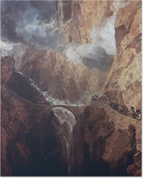 Poster William Turner - Der Gotthardpass - Reproduktion