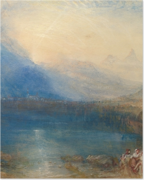Poster William Turner - Der Zuger See am frühen Morgen - Reproduktion