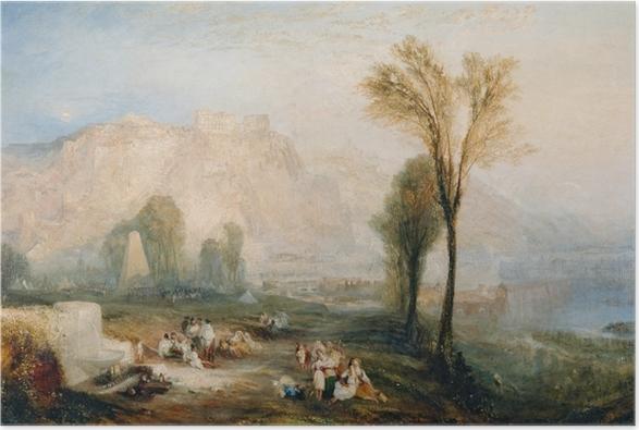Poster William Turner - Ehrenbreitstein und Gruft von Marceau nach Byrons 'Childe Harold' - Reproduktion