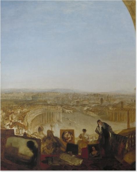 Poster William Turner - Rom, vom Vatikan aus gesehen - Reproduktion