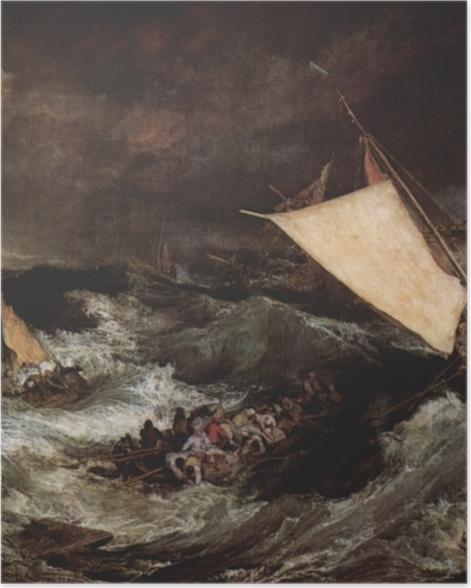 Poster William Turner - Schiffbruch - Reproduktion