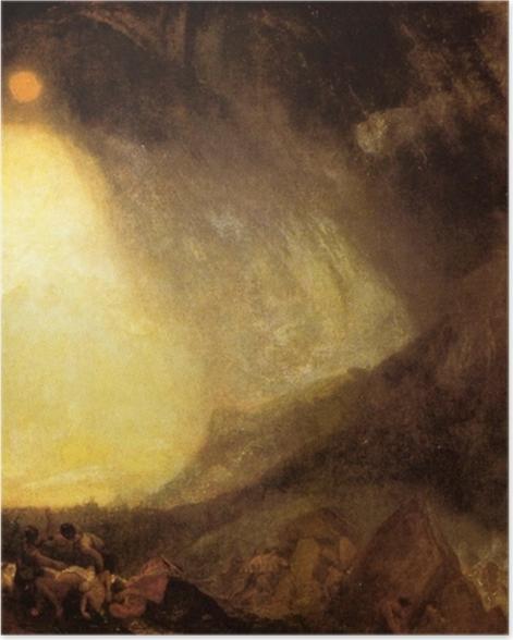 Poster William Turner - Schneesturm: Hannibal überquert mit seinem Heer die Alpen - Reproduktion