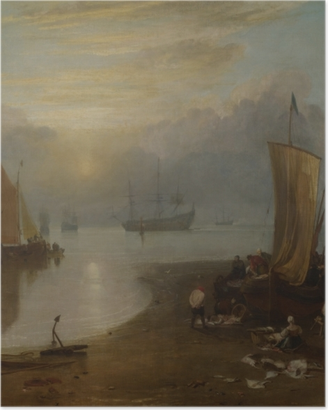 Poster William Turner - Sonnenaufgang im Dunst - Reproduktion