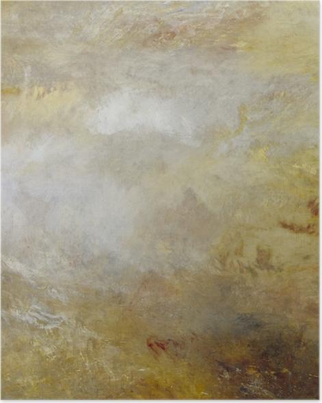 Poster William Turner - Stürmische See mit Delphinen - Reproduktion
