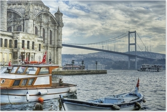 Poster Wo zwei Kontinente treffen: istanbul