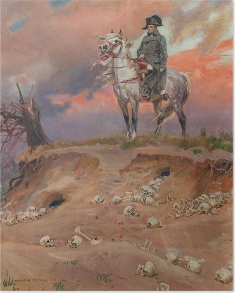 Poster Wojciech Kossak - Napoleon auf dem Schlachtfeld - Reproductions