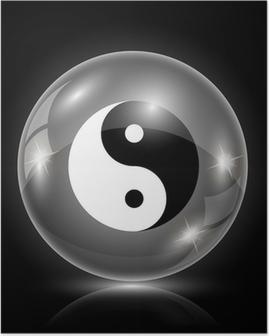 Poster Ying-Yang-Symbol