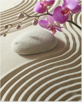 Poster Zen orientalische Blume
