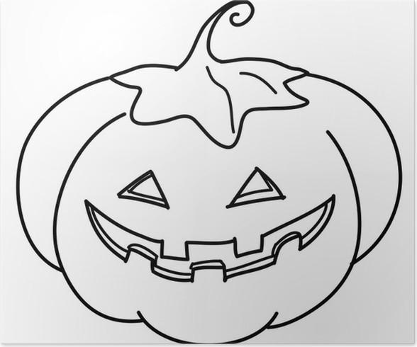 Poster Zucca di Halloween da colorare • Pixers® - Viviamo per il ... 05bb5e1c1c55