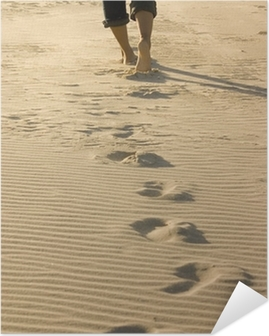 Póster Autoadesivo footprints