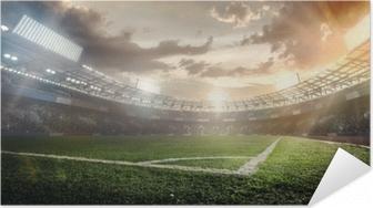 Póster Autoadesivo Fundos do esporte. estádio de futebol.