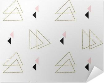Póster Autoadesivo Geométrico