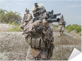 Póster Autoadesivo military operation