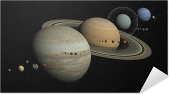 Póster Autoadesivo système solaire