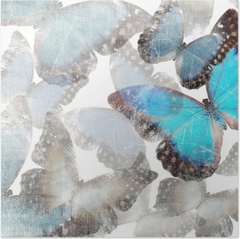 Póster background with marble butterflies