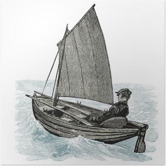 Póster Barco à vela