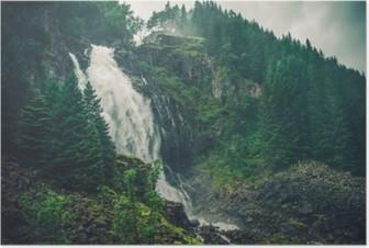 Póster Cachoeira norueguesa Scenic