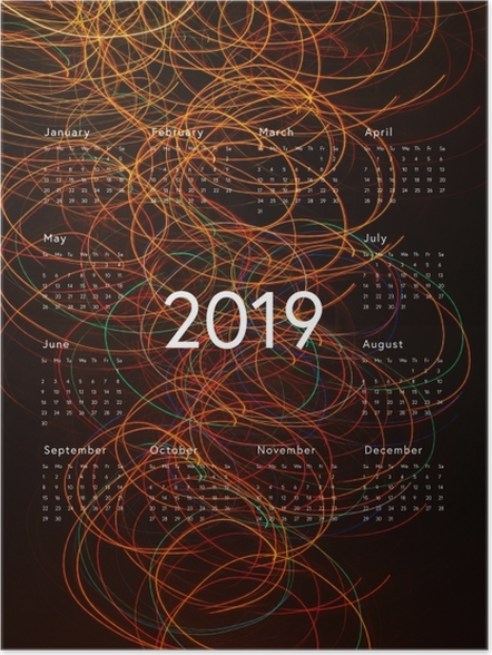 Póster Calendário 2019 - abstração -