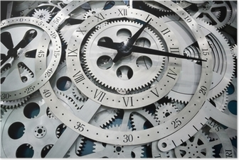 Póster clock and gears