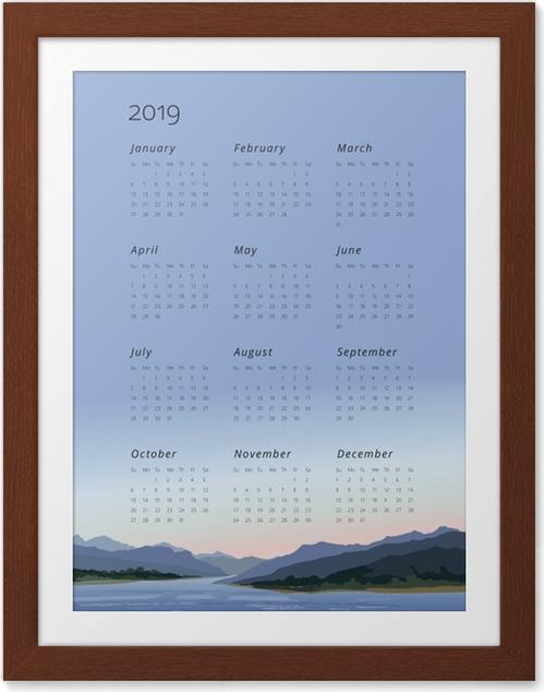 Póster com Moldura Calendário 2019 - manter a calma -