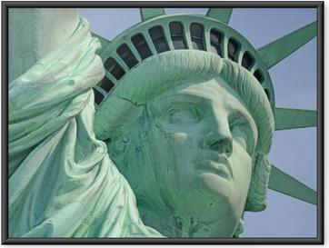 Póster com Moldura Estátua da Liberdade, Liberty Island, New York City
