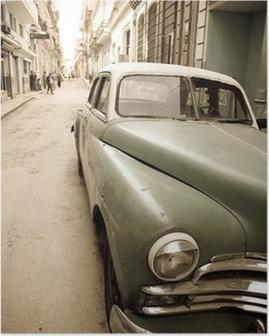 Póster Cuban antique car