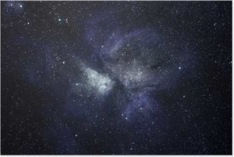 Póster Fundo azul do espaço