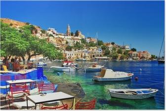 Póster Greek holidays. Symi island