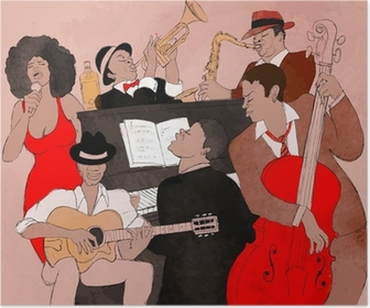 Póster Jazz band