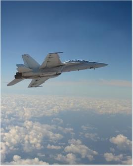 Póster Jetfighter in flight